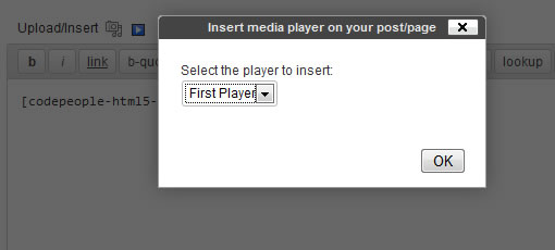 Insert Audio and Video Player on your post